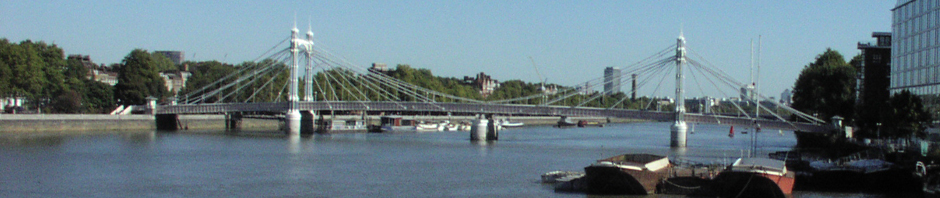 Albert Bridge Wandsworth seen from Chelsea