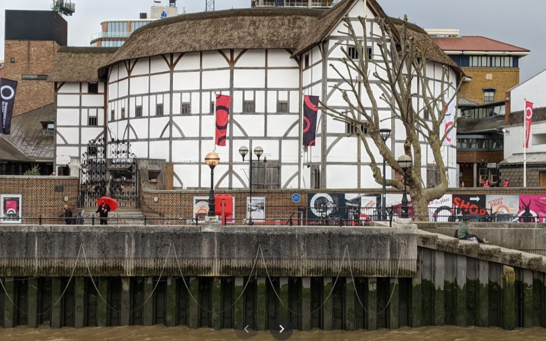 Thames view of Globe theatre