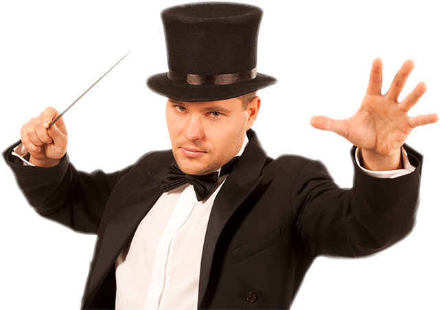 Magician with top hat